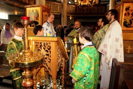 Величание святой княгине Анне Новгородской пред ея честною иконою на праздничном аналое