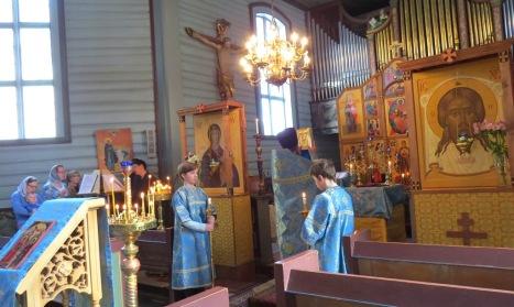 Вход с Евангелием на праздничной литургии