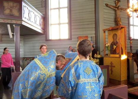 Величание пред иконой Благовещения Богородицы