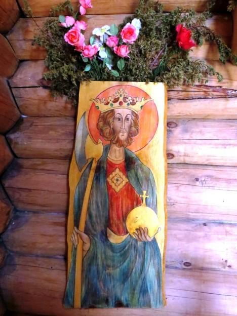 Икона святого Олафа в часовне