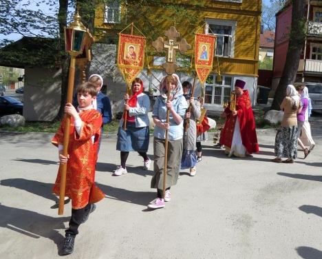 Крестный ход в день жен-мироносиц в Тронхейме