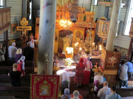 Литургия архиерейским чином в день святого Олава
