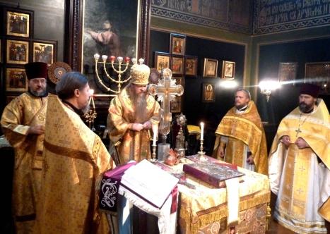 Литургия в русском храме св.Александра Невского в Копенгагене