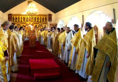 Божественная литургия в храме святого Пантелеимона в Кельне