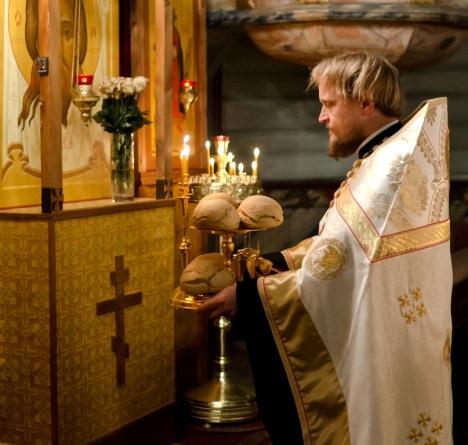 Освященные на литии хлеба