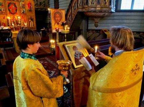 Освящение новой приходской иконы святителя Спиридона