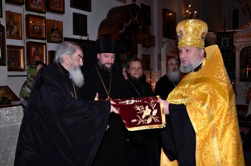Встреча архиерея собором духовенства