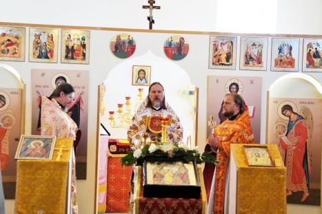 Соборное служение Божественной литургии в Хобро