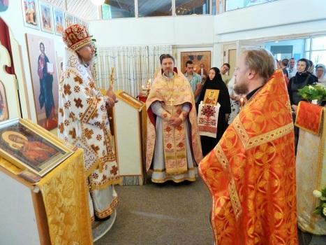 Поздравление владыки с освящением храма и престольным праздником