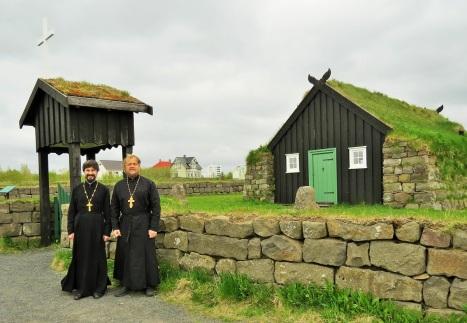 У древнеисландского храма в этнографическом музее Рейкьявика
