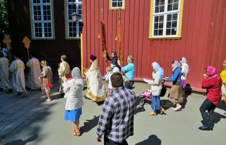 Крестный ход в праздник Вознесения Господня в Тронхейме