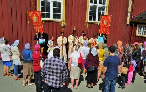 Окропление святой водой в день праздника