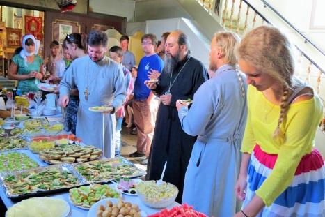 Общая трапеза в день праздника святого Олава в Тронхейме