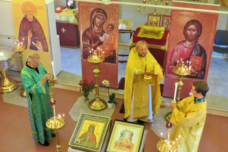 Божественная литургия в приходе святой Ирины в Ставангере