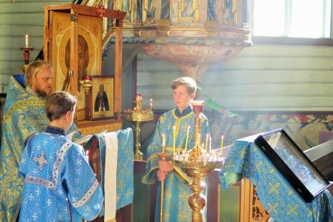 Божественная литургия в Тронхейме на праздник Успения Богородицы