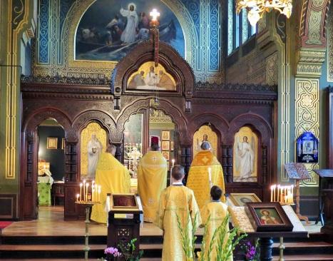 Литургия в храме святого Александра Невского в Копенагене в день престольного праздника