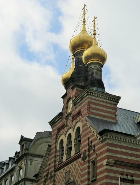 Золотые купола храма святого Александра Невского в Копенгагене