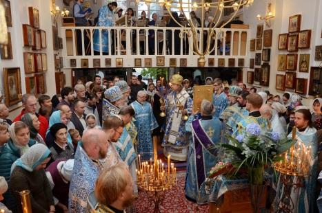 Освящение воды в Покровском храме в Хельсинки