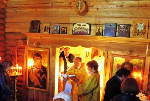 Божественная литургия в храме святого Олава в Стиклестаде