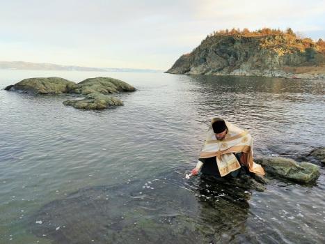 Крещенское освящение вод Тронхеймского фьорда