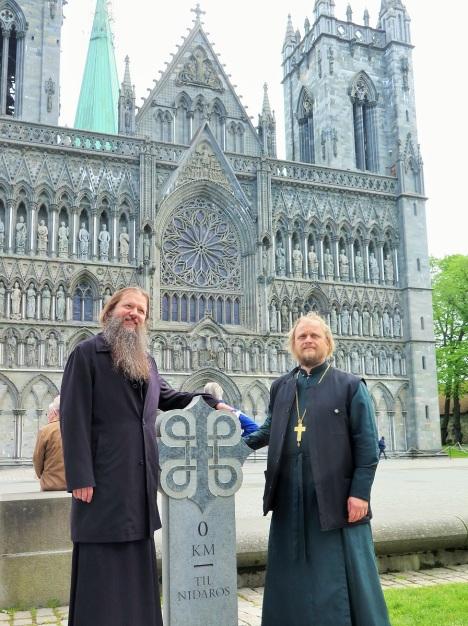 У кафедрального собора Нидаросдомен - места пребывапния мощей святого короля Олафа Норвежского