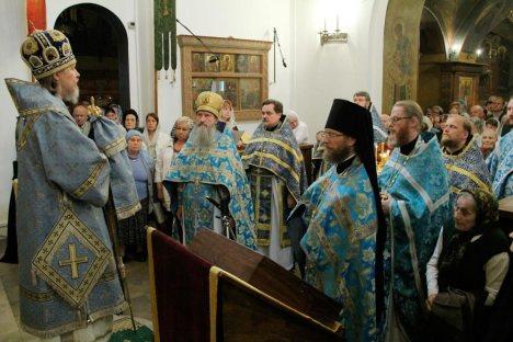 Приветствие Владыки сослужившему духовенству из зарубежных приходов