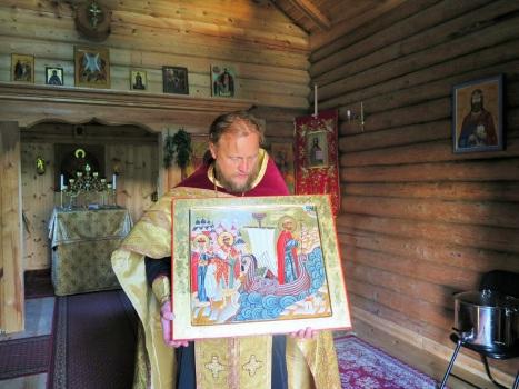 Икона святых Олафа, Ярослава Мудрого и Анны Новгородской