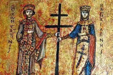Икона святых императора Константина и императрицы Елены