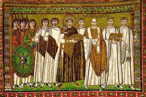 Юстиниан I. Мозаика церкви Сан-Витале в Равенне