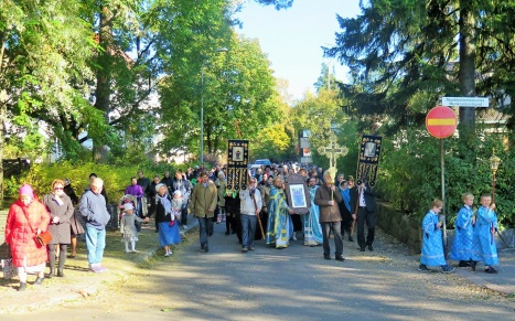 Крестный ход в Хельсинки с иконой Покрова Богородицы