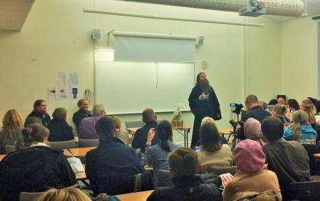 Беседа с соотечественниками в университете Стокгольма
