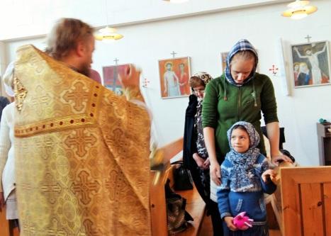 Каждение во время литургии в Му и Ране