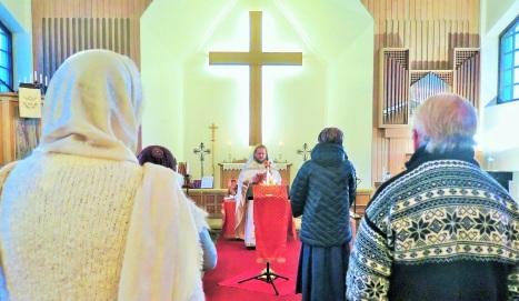 Рождественское богослужение в общине Нарвика