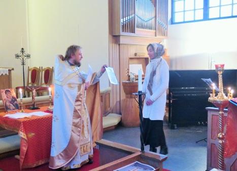 Награждение прихожан в Нарвике почетными грамотами