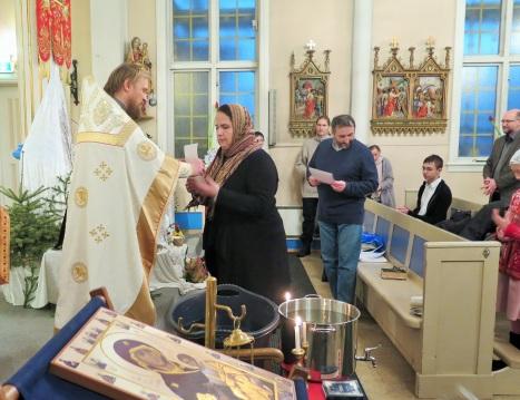 Награждение прихожан в Тромсе почетными грамотами