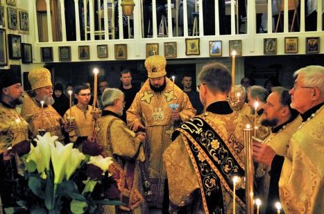 Всенощное бдение в Покровском храме Хельсинки