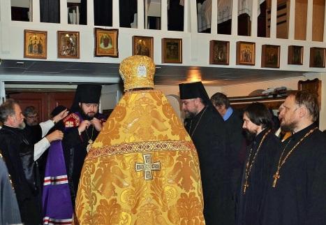 Встреча архиерея духовенством и мирянами