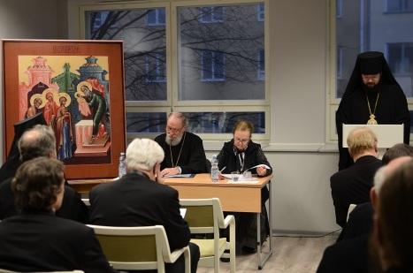 Выступление владыки Антония с докладом Русская Фиваида