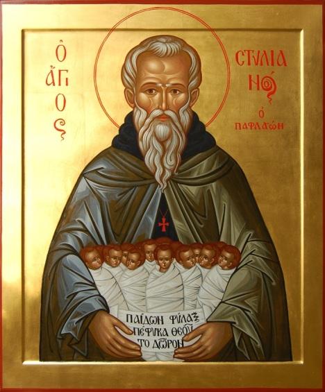 Икона святого Стилиана Пафлагонского