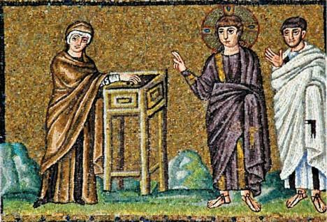 Мозаичная икона Лепта вдовицы