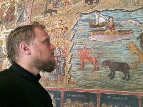 Фрески в знаменитом афонском Ватопеде