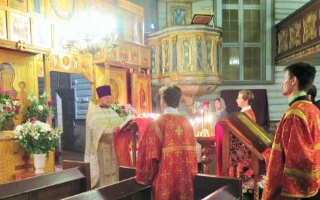 Чтение Пасхального Огласительного слова святого Иоанна Златоуста
