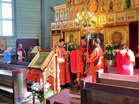 Чтение Евангелия на Божественной литургии