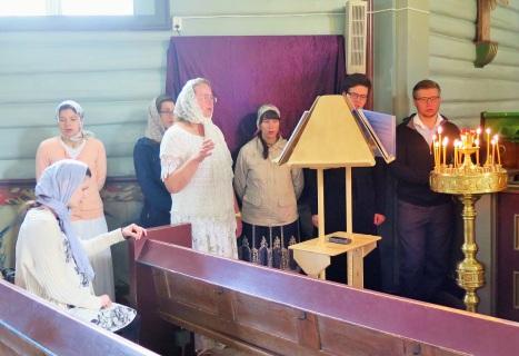 Приходской хор в день Праздника Преображения Господня