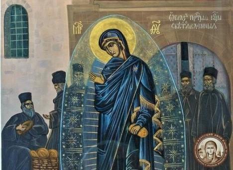 Икона Богородицы с чудом явления Ее светописанного образа