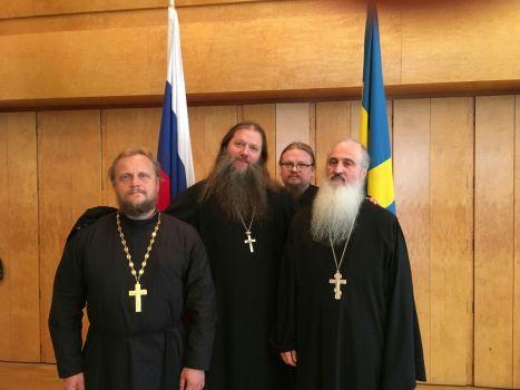 Духовенство после встречи протоиерея Артемия Владимирова с учителями и учениками посольской школы в Стокгольме