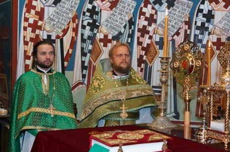 Божественная литургия в сербском храме в Стокгольме