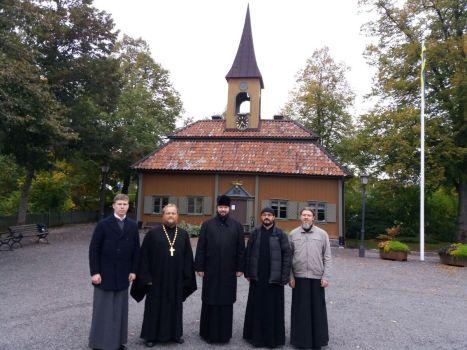 Владыка Антоний и духовенство в Сигтуне