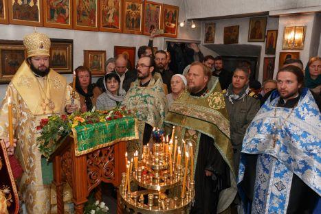 Всенощное бдение в приходе святого Сергия Радонежского