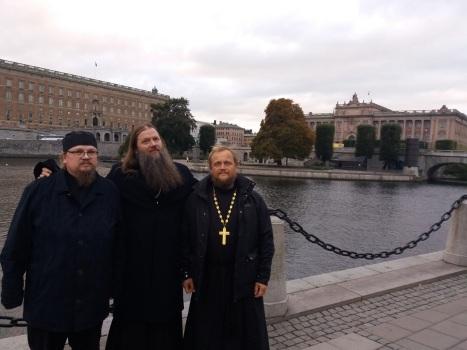 О.Александр Пискунов, о.Артемий Владимиров и о.Александр Волохань